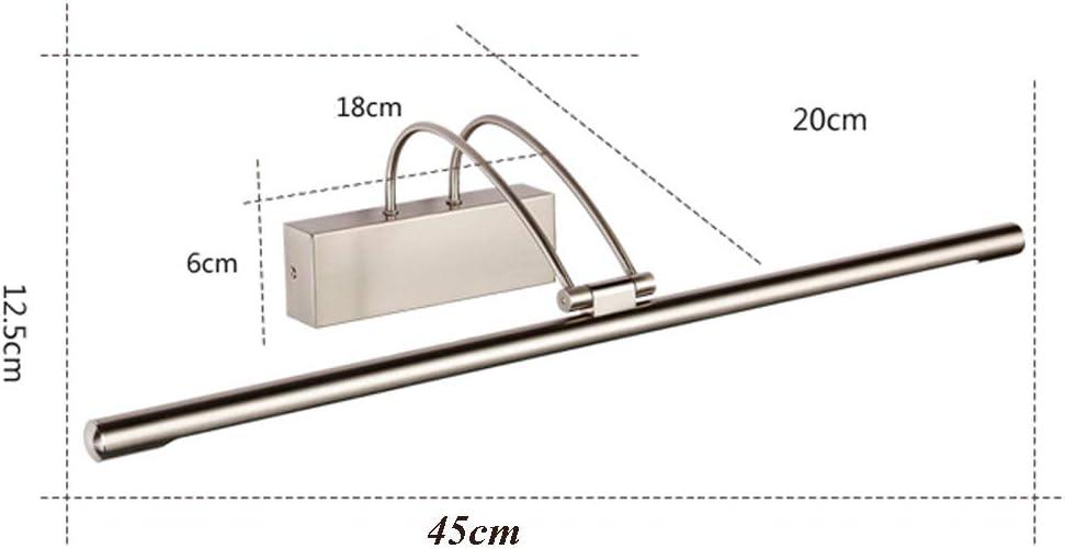 6500K Badezimmer WC Waschtisch Schrank Wandleuchte IP44 Wasserdichter Spiegel Frontleuchte Acryl Moderne Waschtischleuchte Für Badezimmer Küche Innen,9w45cm 9w45cm