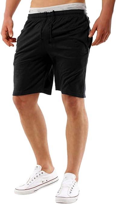 MVPKK Pantalones Cortos de Algodón Hombre Color Sólido Pantalones Cortos Hombre Bermudas Aptitud Hombre Shorts Hombre Deporte Elástico Bermudas Deportivas Hombre Bermudas Hombres Playa: Amazon.es: Ropa y accesorios