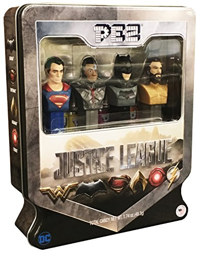 PEZ Candy Justice League Gift Set in Tin - Superman, Exclusive Cyborg, Batman and ()