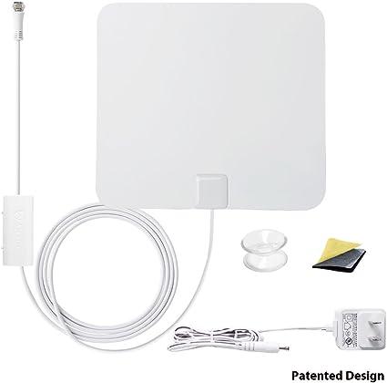 ANTOP AT-100B 4K HDTV Thin Indoor Amplified Antenna