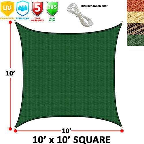 Modern Home Sail Shade Rectangle 16 x 12 – Green