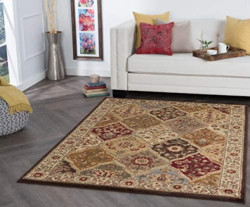 Cambridge Traditional Abstract Multi-Color Rectangle Area Rug
