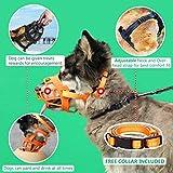 Dog Muzzle, Soft Silicone Basket Muzzle for