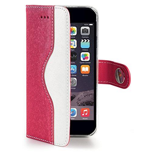 Celly Wally Onda Eco Schutzhülle aus Leder für iPhone 6Plus/6S Plus–Pink