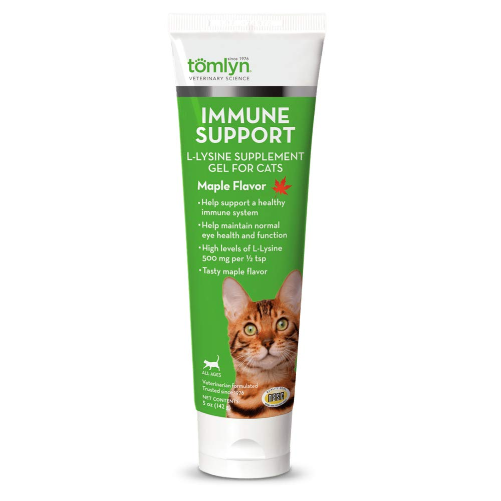 Tomlyn Immune Support Daily L-Lysine Supplement, Maple-Flavored Lysine Gel for Cats and Kittens, 3.5oz by TOMLYN