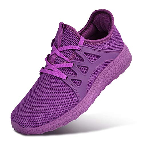 MARSVOVO Womens Sneakers Lightweight Casual Walking Shoes Gym Breathable Mesh Sports Shoes Purple