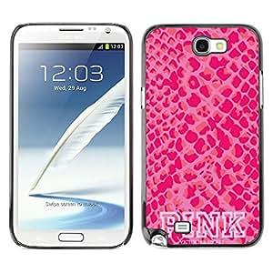 Caucho caso de Shell duro de la cubierta de accesorios de protección BY RAYDREAMMM - Samsung Galaxy Note 2 N7100 - Skin Pattern Text White