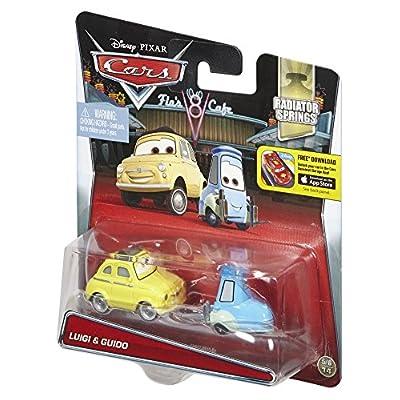 Disney/Pixar Cars, 2015 Radiator Springs Die-Cast Vehicles, Luigi & Guido #4,5/19, 1:55 Scale: Toys & Games