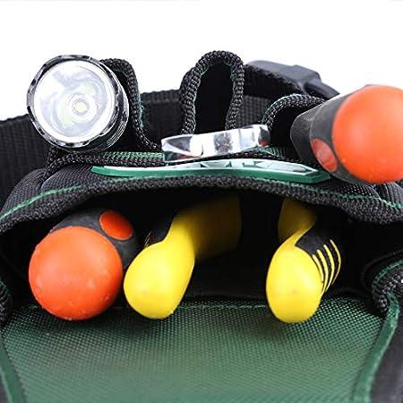 herramientas profesionales impermeable multicolor Oxford con cintur/ón JAKAH Bolsa de herramientas para electricista