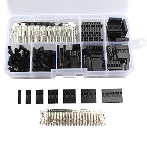 310Pcs 2.54mm Dupont Female / Male Wire Jumper Pin Header Connectors Terminals M/F Crimp Pins Assortment Kit (Wire Connectors Pin)