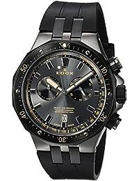 Men's 'Delfin' Quartz Stainless Steel Dress Watch, Color:Black (Model: 10109 357GNCA NINB)