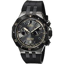 Edox Men's 'Delfin' Quartz Stainless Steel Dress Watch, Color:Black (Model: 10109 357GNCA NINB)