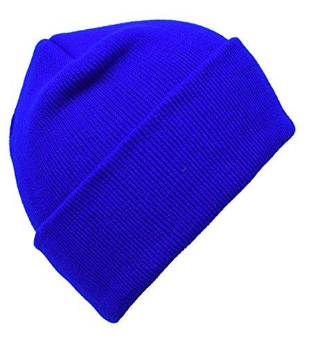 - PZLE Men's Knit Hat Winter Caps for Men Blue Stocking Cap Flap Hats Royal Blue ...
