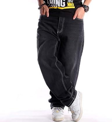 Hip Hop Baggy Jeans Denim Street Dance Pantalones De Skate Para Hombre Amazon Es Ropa Y Accesorios