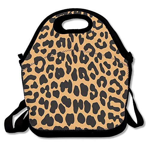 Cool Animal Leopard Print Lunch Bag Lunch Tote Lunch Box Handbag For Kids And Adults