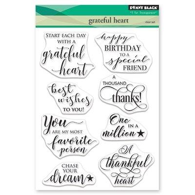 - Penny Black Clear Stamp Set - Grateful Heart