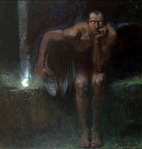 Franz Stuck - Lucifer, Poster art print wall d?cor