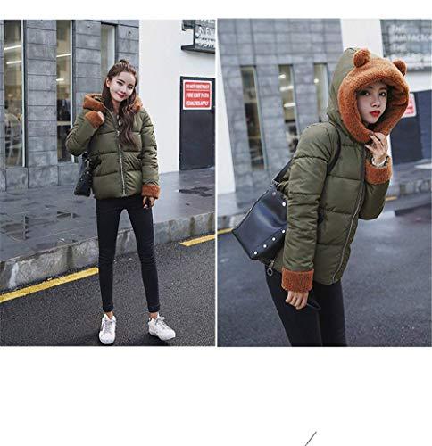 Anteriori Di Outwear Con Especial Tasche Donna Dolce Giubbino Giacca Lunga Piumini Invernali Manica Cappuccio Cerniera Grün Stile Estilo Caldo Moda AwwzfUqC