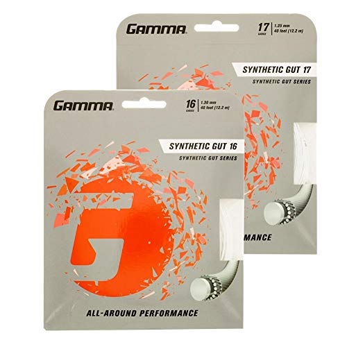 Gamma Synthetic Gut 16G Tennis String, White ()