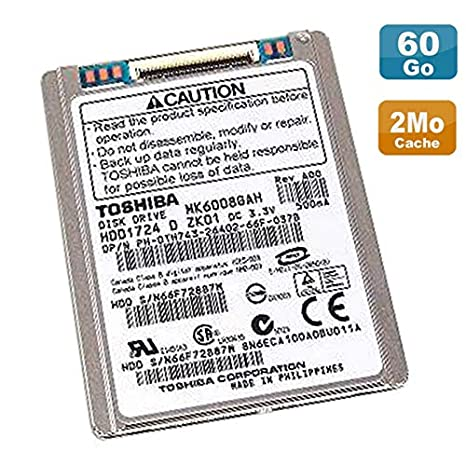 Toshiba Disco Duro 60 GB IDE 1.8 MK6008GAH 0th743 th743 PC portátil: Amazon.es: Electrónica
