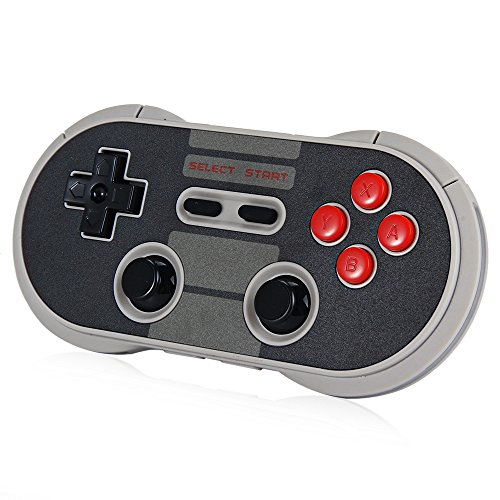 8Bitdo NES30 Pro Wireless Bluetooth Controller Dual Classic Joystick for iOS Android Gamepad PC Mac Linux(Black)