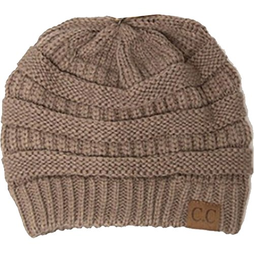 Knitting Items In Dubai : Winter white ivory thick slouchy knit oversized beanie cap