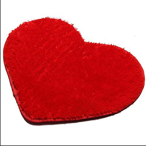 Heart Shaped Bar (2016 Fashion 4050CM Soft Home Textile Solid Heart Shaped Anti Slip Chair Pad Cushions Soft Rug Door Mats Carpet Floor)