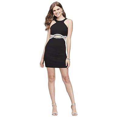 a6ab4eb05f David s Bridal Scuba Crepe Sheath Prom Dress with Infinity Waist Style  D67452DNE