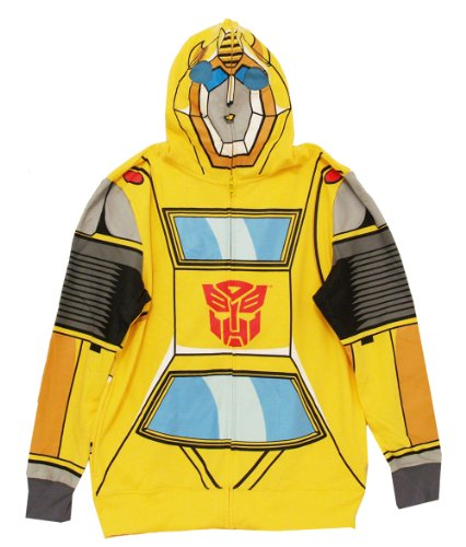 Transformers Bumblebee Costume Hoodie For Adult (L) -
