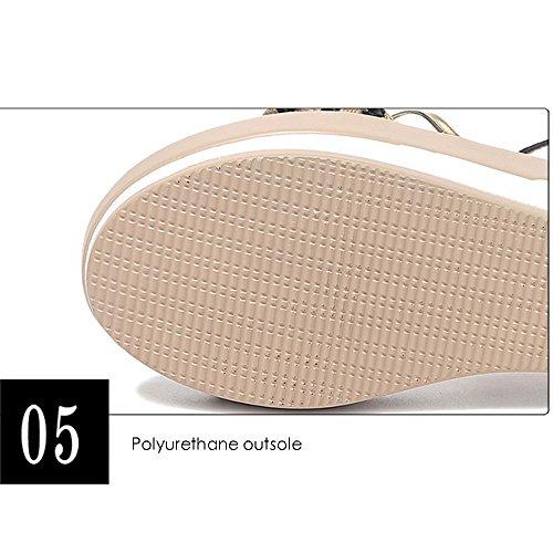Gljxg Mujer 2 Opcional Suela Wild Sandalias Colores Tamaño Zapatos Gruesa De Opcional Summer A Gaolongjun Wedges Muffins Cq5Pwt