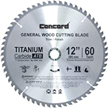 Concord Blades WCB1200T060HP 12-Inch 60 Teeth TCT General Purpose Hard and Soft Wood Saw Blade