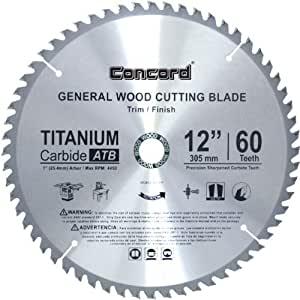 Concord Blades Wcb1200t060hp 12 Inch 60 Teeth Tct General