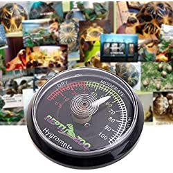 NJPOWER Reptile Tortoise Terrarium Vivarium Hygrometer Humidity Meter Gauge Rearing Box Drop ship
