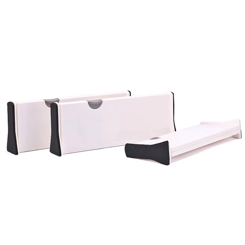 SUNSHINE EVERYDAY Adjustable Drawer Divider Organizer for Kitchen, Bathroom, Bedroom, Office or Dresser, Tool-Free Installation Plastic Book Dividers (M)