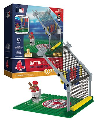 Oyo Sportstoys MLB Boston Red Sox Batting Cage Set with Minifigure, Small, White