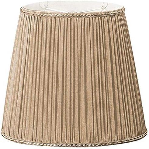 Royal Designs DDS-4-16GGL 9×11 x 10.5×16.25 x12 Oval Pleated Designer Lamp Shade, Gypsy Gold