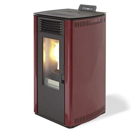 DIVINA Fire estufa de pellets 7.4kW 170mc calentamiento Burdeos 65 S-Line df53712