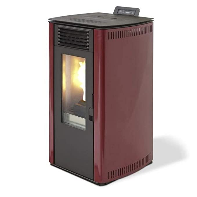DIVINA Fire estufa de pellets 7.4kW 170mc calentamiento Burdeos 65 S-Line df53712: Amazon.es: Hogar