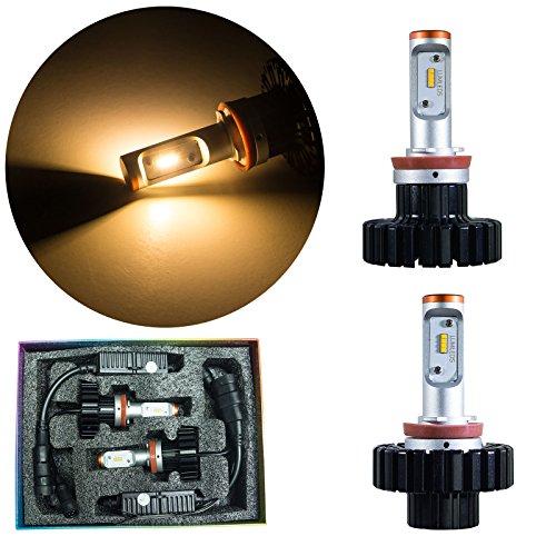 PA 1 set LED Headlight Fog Light Conversion Kit 80w H8 LED 11000LM Warm White(3000K) ()