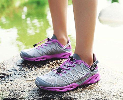 Grey Walking Shoes Low Waterproof Outdoor Hiking Shoes Top Non DANDANJIE Sports slip Shoes Cross Hiking Women country qYxPa80