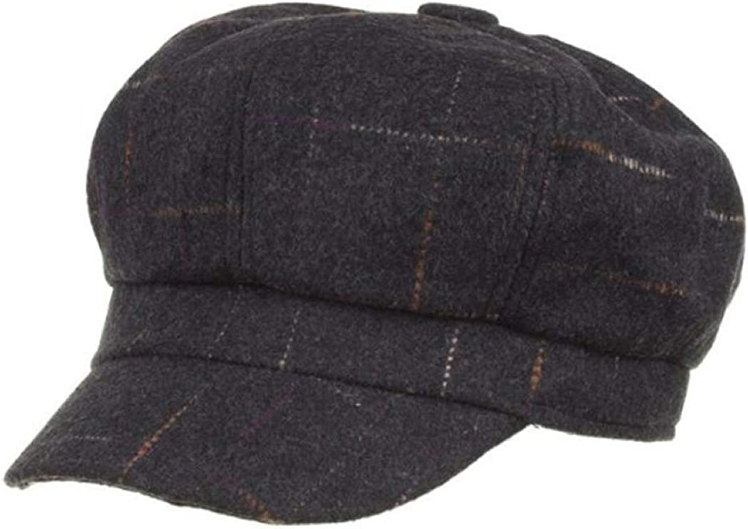 Women's Plaid Newsboy Caps...