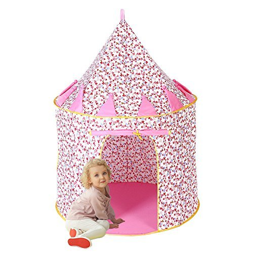 Everfunny Princess Castle Play Tent, Cotton Material Outdoor Foldable Pop-up...