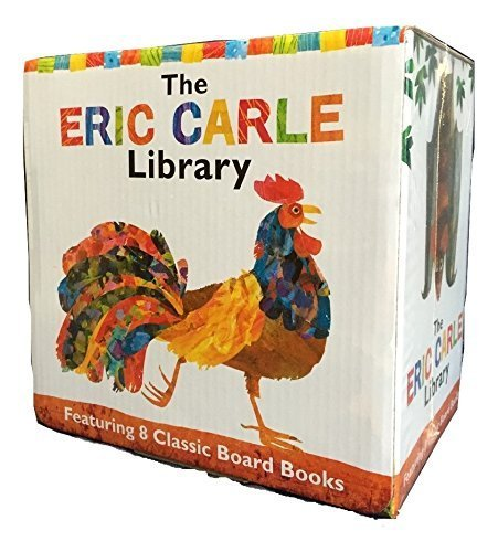 The Eric Carle Library Featuring 8 Classic Board Books Boxed Set [The Greedy Python, The Foolish Toroise, Rooster's Off to See the World, Walter the Baker, A House for Hermit -