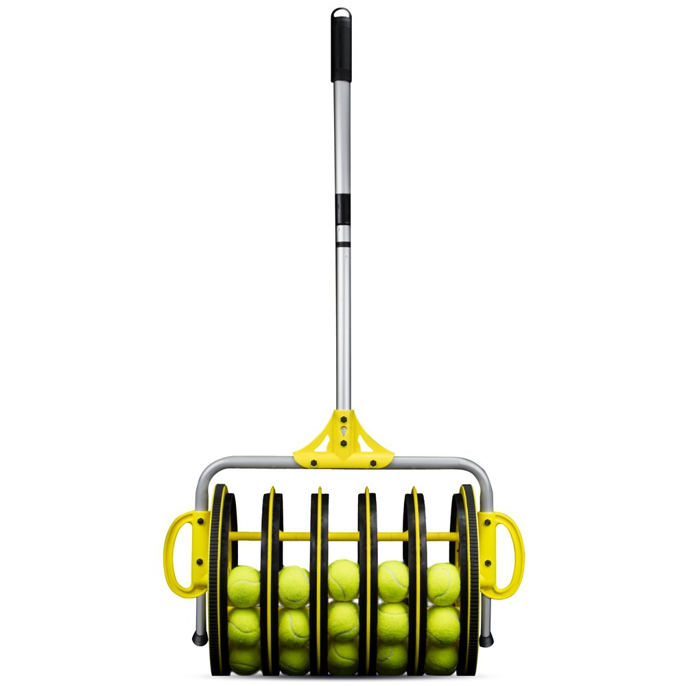 Deluxe Roller Tennis Ball Collector - Includes 25 Bonus Practice Balls! by Crown (Image #1)