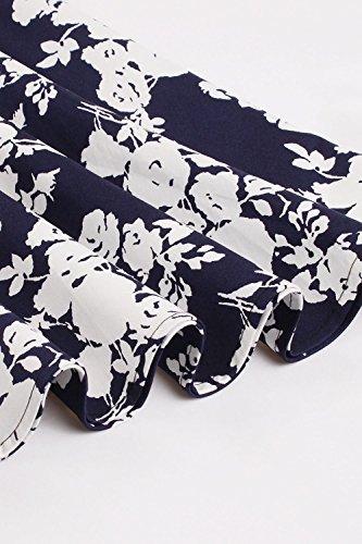Midi Et Navy3 pour Les Vintage Femmes Florale Animal Jupes Dcollet xw4pgI