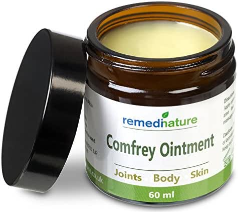 Remedinature Comfrey Ointment, Body Joint Skin Salve, Natural and Odourless, 2 Ounce