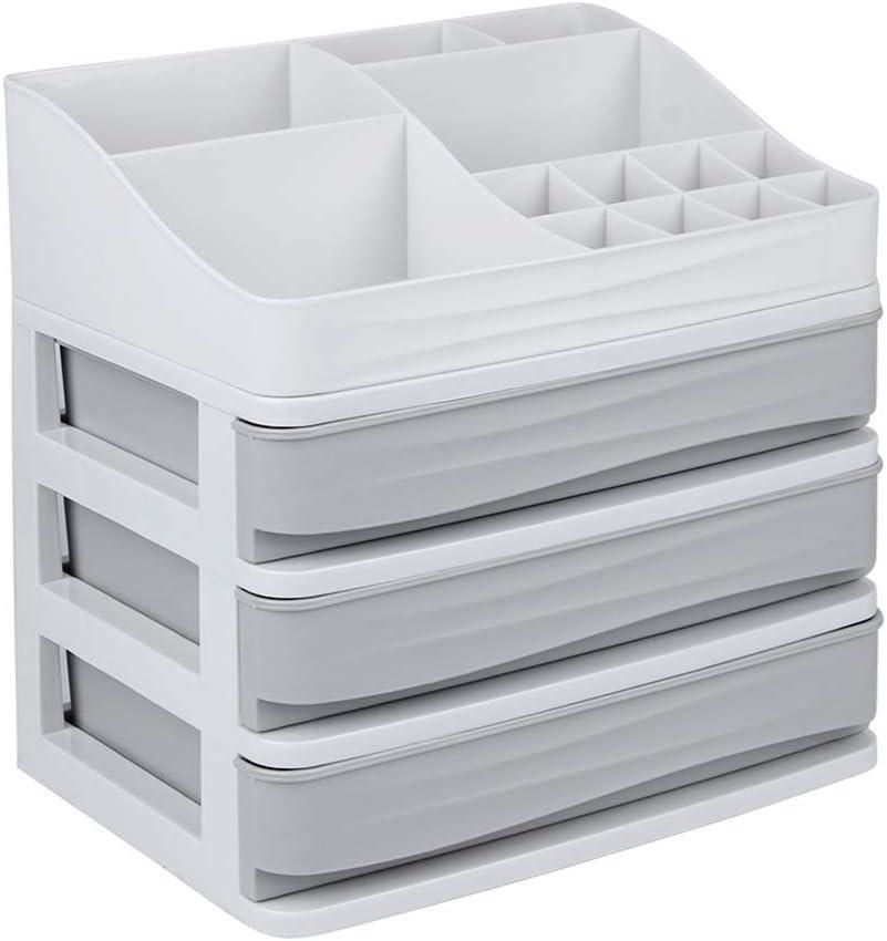 Cosmetic Makeup Organizer Display Table Storage Box with Drawers Lipsticks Holder Desktop Sundry Storage Case