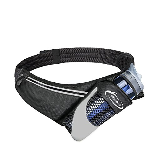 AiRunTech Running Belt with Water Bottle Holder No Bounce Hydration Belts...