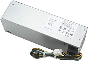 Mackertop 240W H240ES-02 Power Supply Replacement for Dell Optiplex 3046 3050 5050 7050 Mini Tower L240ES-00 HU240AS-02 H240NM-00 H240NM-02 HU240AS-00 P/N: J61WF DK87P F484X DW3M7 HT04K