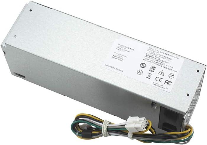 Mackertop 240W H240ES-02 Power Supply Replacement for Dell Optiplex 3046 3050 5050 7050 Mini Tower L240ES-00 HU240AS-02 H240NM-00 H240NM-02 HU240AS-00 P/N: J61WF DK87P F484X DW3M7 HT04K